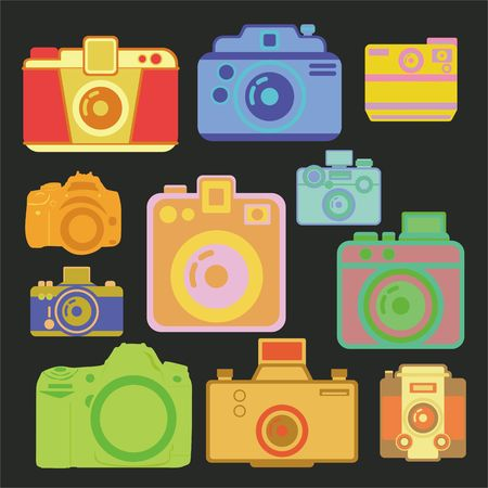 Camera vector Digital Clipart Vector