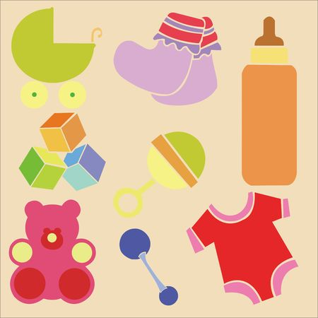 Baby Shower Vector DIgital Clipart 4 Vector
