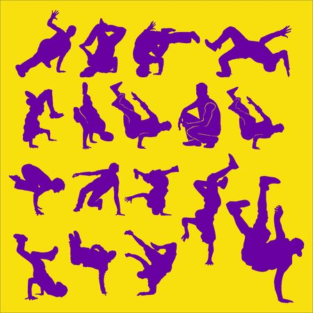 Breakdance Vector Digital Clipart 2 Vector