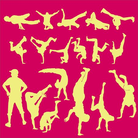Breakdance Vector Digital Clipart Vector