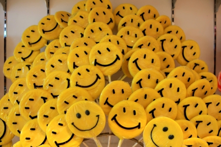 acid colors: Yellow colour candy smile pattern