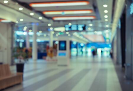 blurred view of the shopping center . blurred background Stock Photo