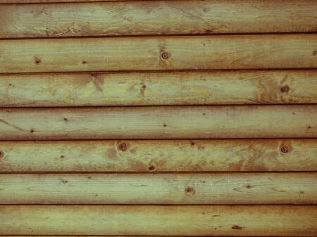 textured wooden background from boards of logs Stock Photo