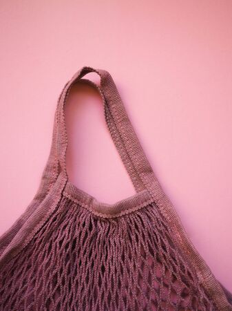 fabric bag for products ecology string bag Stock Photo