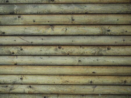 textured wooden background from boards of logs Banco de Imagens