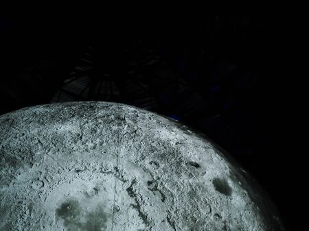 moons as an art object on a black background Banco de Imagens