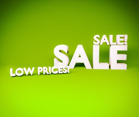 Sale 3d text photo