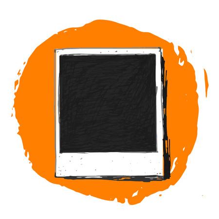 Dibujo del vintage marco de la foto del vector Foto de archivo - 47045631