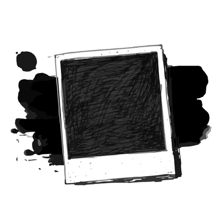 Vintage drawing photo frame vector Иллюстрация