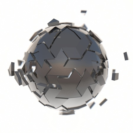3d sctucture abstract sphere illustration