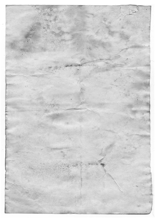 oldened: Old paper on white background