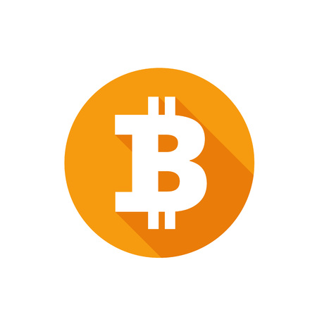 Bitcoin vector colored illustration
