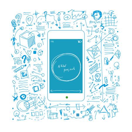 Mobile repair and development illustration