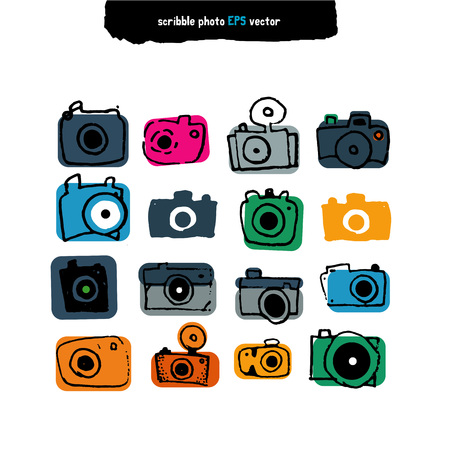 studio shot: Vector Icons for Photographers collection Illustration