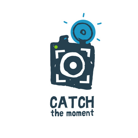 'catch the moment': Vector Icon for Photographers single picture Illustration