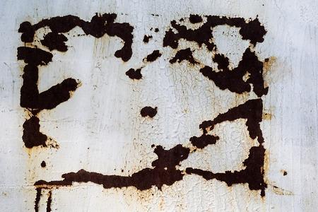 garabatos: textura conjunto Foto grunge metal oxidado. Foto de archivo