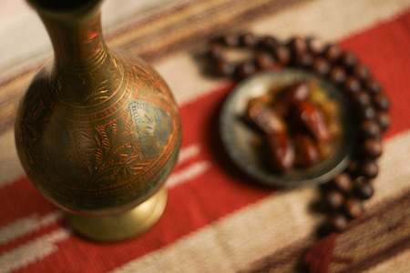 tight focus: Ramadan traditional islam photo background set. Smooth background and tight focus.