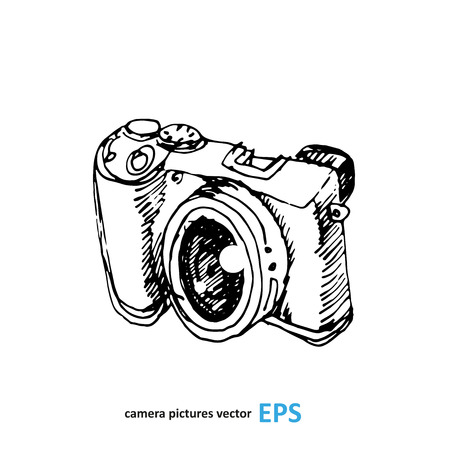 photography studio: Camera photography studio vector illustration.