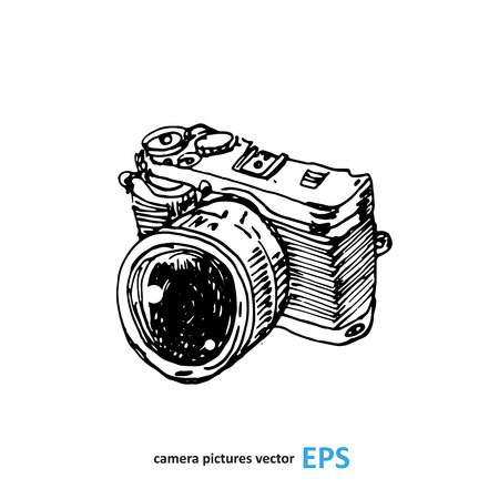 Camera photography studio vector illustration.