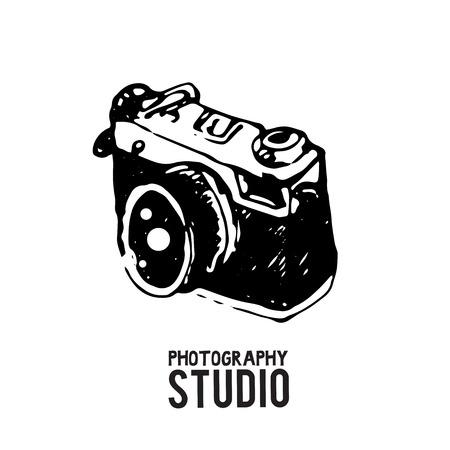 カメラ写真スタジオのベクトル図です。