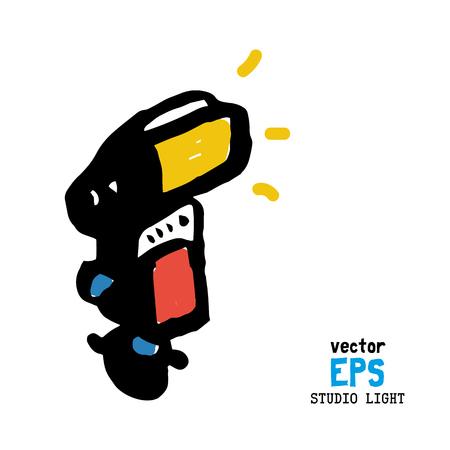 photo studio: Set of photo studio equipment vector illustration Illustration