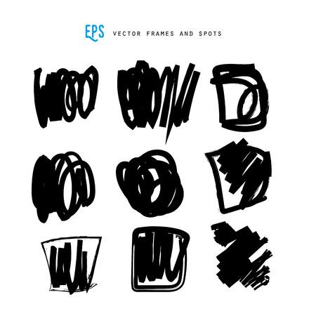 scribble: Scribble vector forms set vector. Illustration