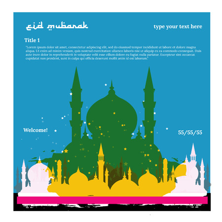 Islam vector illustration traditional picture.