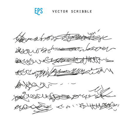 Unidentified abstract handwriting scribble vector