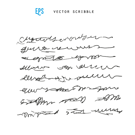 scribble: Unidentified abstract handwriting scribble vector