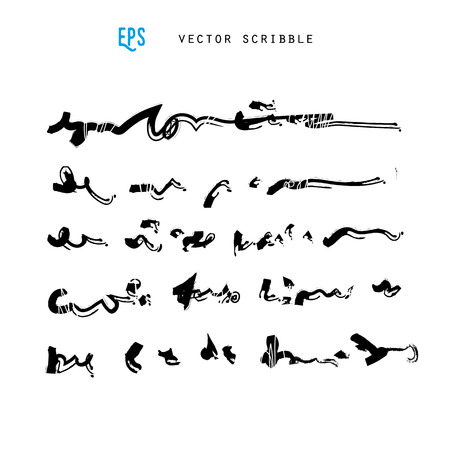 handwriting: Unidentified abstract handwriting scribble vector