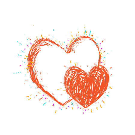 Heart vector drawing pretty art.