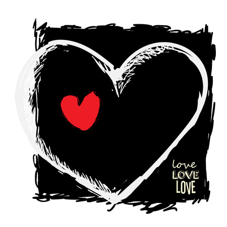 Illustration pretty vector heart art. More in portfolio.