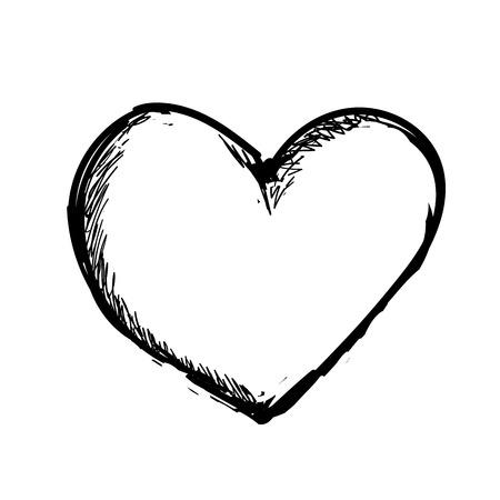 Illustration pretty vector heart art. More in portfolio.