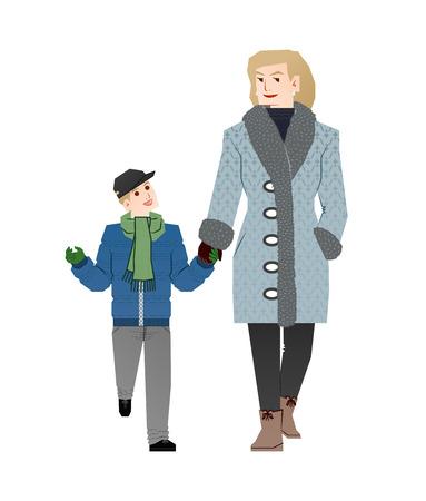 madre soltera: madre soltera Vectores