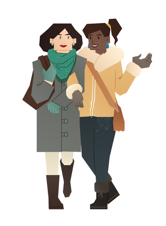 nontraditional: family lesbian couple