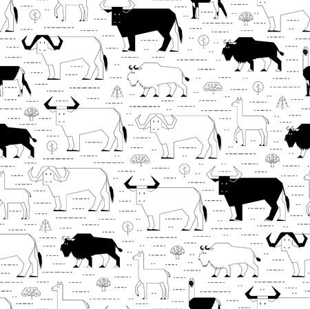 hoofed animals: hoofed animals pattern