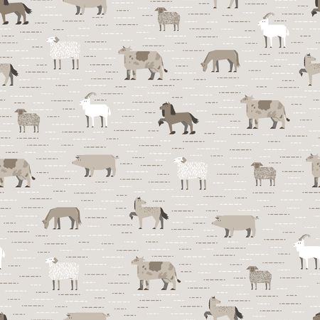 livestock: livestock pattern coffee color Illustration