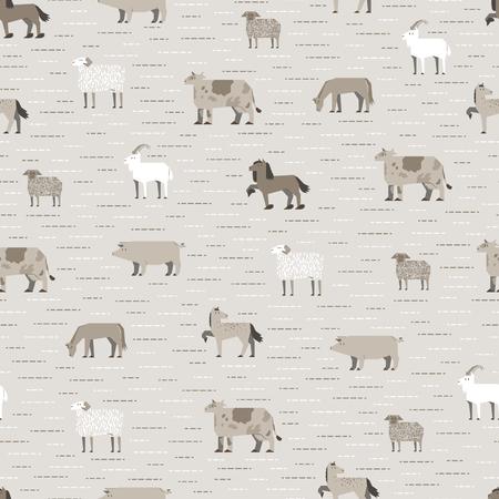 livestock pattern coffee color