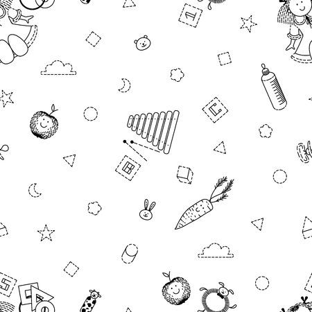 Baby girl pattern Иллюстрация