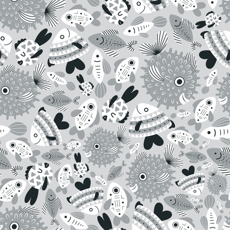 nuances: fish bright pattern Illustration