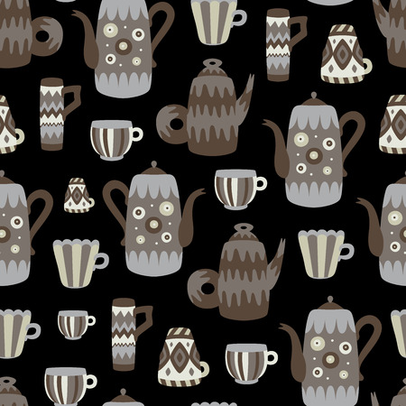 bright: bright mugs pattern Illustration