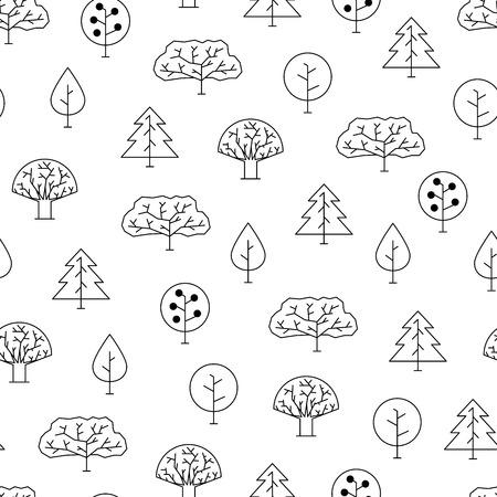 contour: contour forest pattern