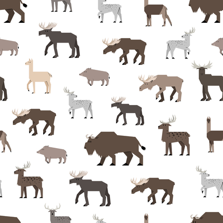 cloven: forest animals pattern Illustration