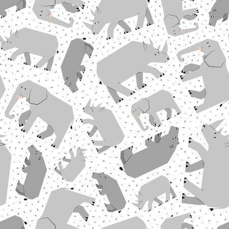 cloven: cute african animals pattern Illustration