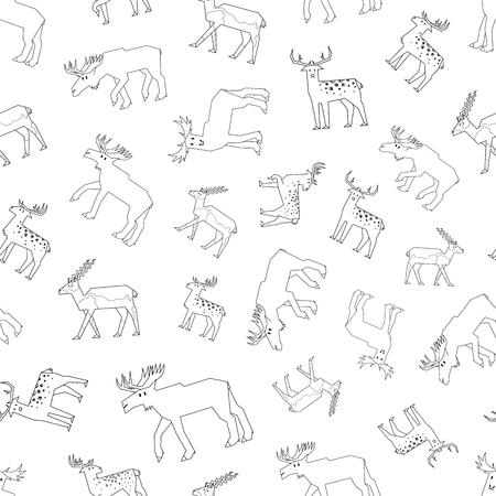animales del bosque: contorno patr�n de los animales del bosque