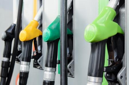 station service: Close-up des pompes de stations-service