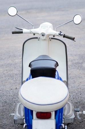 White vintage oldtimer scooter. photo