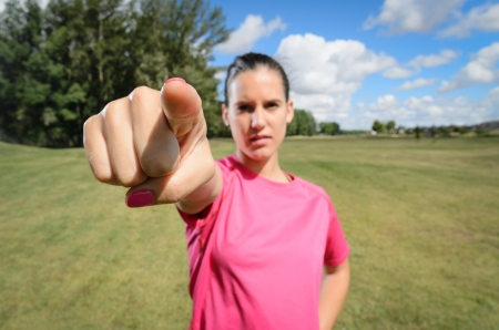 fingering: Sports Woman fingering serious with wide angle distorsion