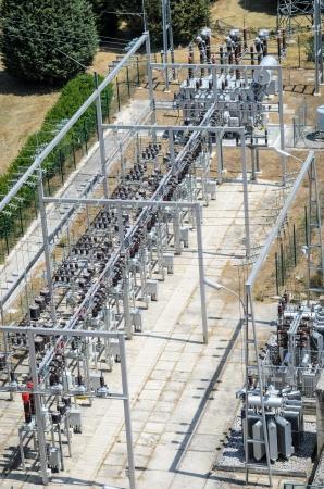hydroelectric station: Centrale elettrica e trasformatori della centrale idroelettrica