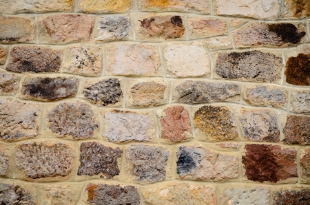 solidity: Rustic brown sandstone wall texture. Stock Photo